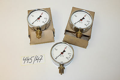 Wika Manometer 0-0,6 bar Ø100mm ØAnschlussgewinde ca. 20,5mm 3Stk. Set 445/47