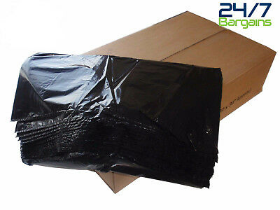 Black Refuse Sack 18X29X39  200 Gauge Thick Heavy Duty Bin Liners Rubbish Bags