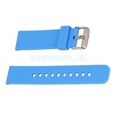Luxury Silicone Strap Replacement Watch Band for Garmin Fenix Chronos Blue