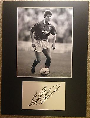 Brian Laws Hand Signed Nottingham Forest Display AFTAL COA Football