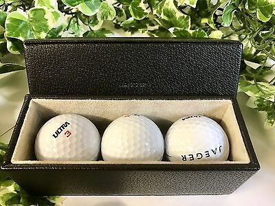 Vintage Set Of 3 Jaeger Golf Balls & Jaeger Golf Ball Case Wilson Ultra 3