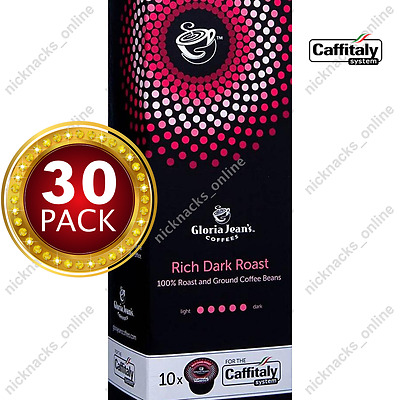 30 Capsules Gloria Jeans Coffee Rich Dark Roast Pods Caffitaly System