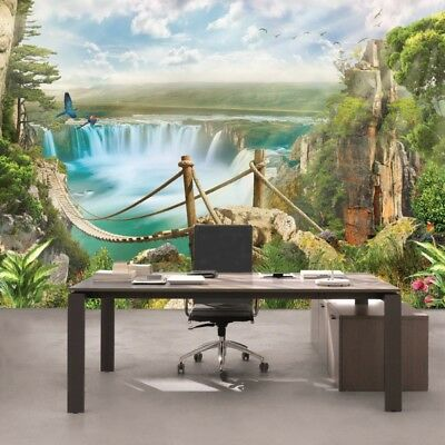 WALL MURAL PHOTO HQ WALLPAPER 3D ROOM ART GIANT DECOR KIDS Rope Bridge NATURE