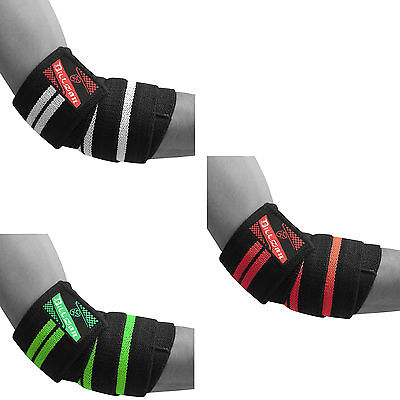 BZ Elbow Wraps Weight Lifting Bandage Straps Guard Pads Sleeves Powerlifting Gym