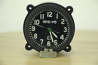 GOOD! 1119-ChS M3 Clock for the Soviet tanks MADE in USSR AChS, Aircraft, MIG