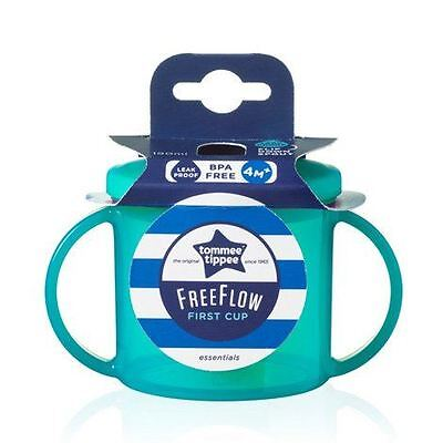 Tommee Tippee First Cup Turquoise Baby Sips 4 Months Essentials 190ml Free Flow