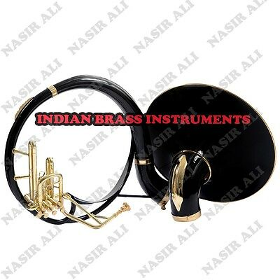 "IBI SOUSAPHONE Bb PITCH 21"" BELL WITH FREE CARRY BAG AND MOUTHPIECE, BLACK COLOR"