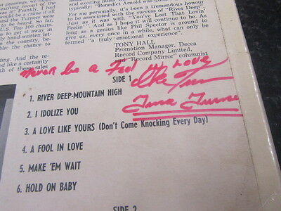 Ike & Tina Turner River Deep Mountain High Lp Uk 1St Stereo Signed With Message