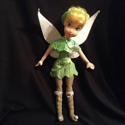 Tinkerbell  Disney Fairy - Soft Doll with Plastic Face - 34cm