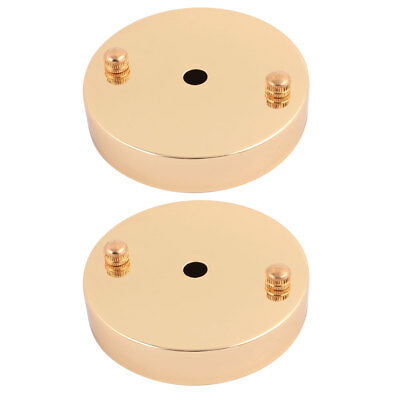 2Pcs Ceiling Plate Straight Edge Disc Base Pendant Light Accessories 100 x 20mm
