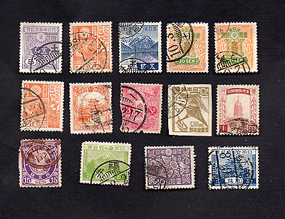 JAPAN Various Japanese Occupation Used/Mint Vintage Postage Stamps