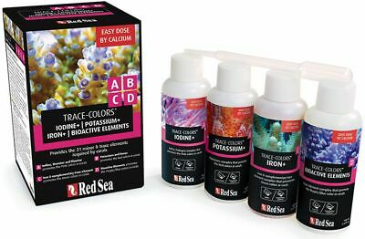 Coral Colors Starter Kit A,B,C&D Trace Colors 4x100ml Red Sea