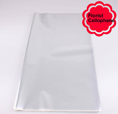 70 Sheet Clear Florist Cellophane Craft Film Fresh Flower Gift Wrap Paper