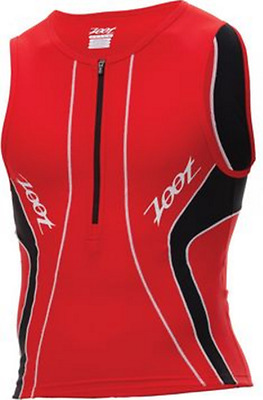 Zoot Men Performance Tri Tank Triathlon Red Jersey