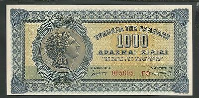Drachmae 1.000/1941 GEM UNC! (Title of icon without white frame-back side!)