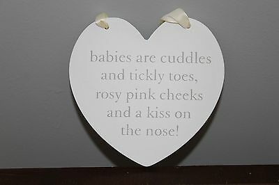 Baby Heart Wall Plaque Sign Gift Present baby shower idea