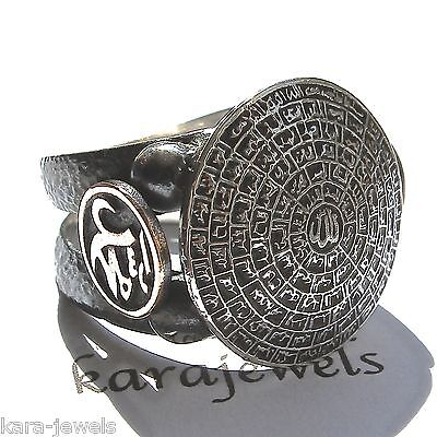 925 Sterling Silver Mens Ring 99 Names of Allah Islamic Jewelry Asma ul-Husna