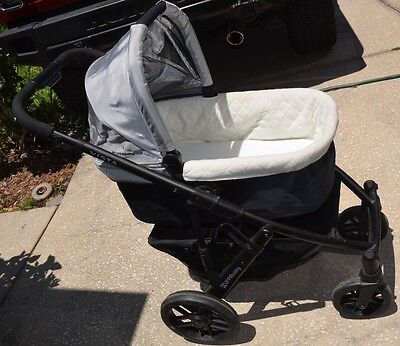 UPPAbaby Vista Silver Travel System Single Seat Stroller BASSINET  Black 2013