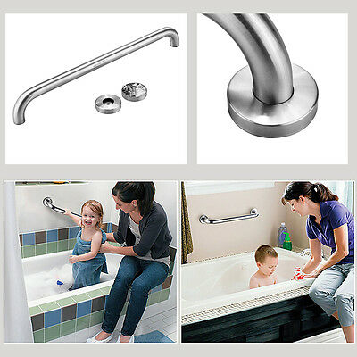 Bathroom Bathtub Safety Support Rail Grab Handle Bar Stainless Steel