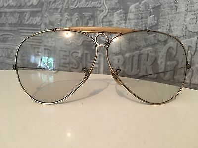 Rare B&L Ray Ban Broken Shooter Model Gold Frame 62mm 1/30 10K