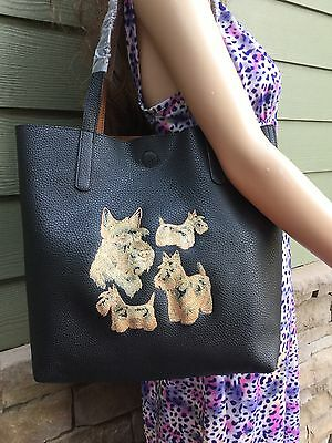 Scottish Terrier, Scottie, Scottie Dog Embroidered Ladies Tote/handbag