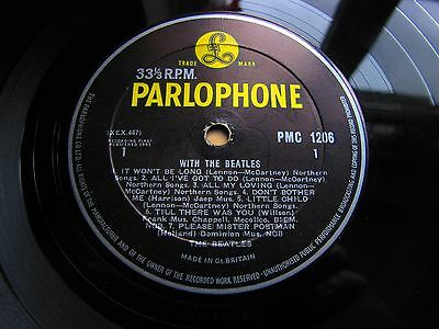 The BEATLES * WITH THE BEATLES * 1963 UK LP PMC 1206 DECCA CONTRACT PRESS!