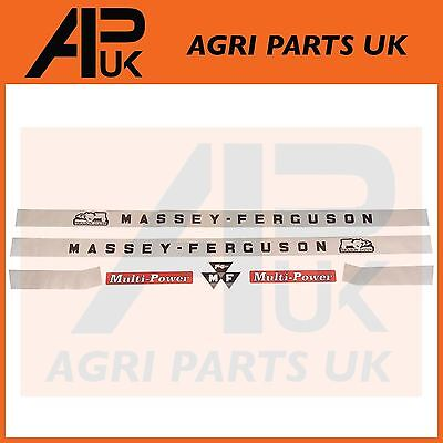 Massey Ferguson 135 148 Tractor Hood Bonnet Decal Sticker Set 7pcs MF135