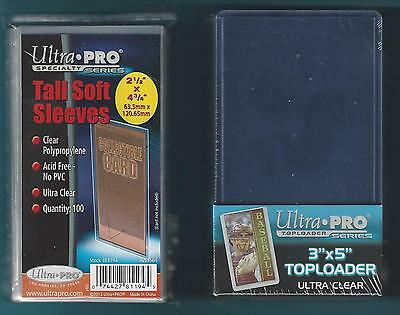 (25) Ultra Pro 3x5 Toploaders and (100) FREE 3x5 Card Sleeves - BRAND NEW