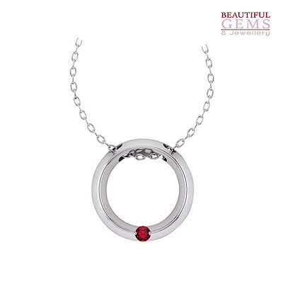 Pendant with 0.2ct (⅕) Natural Ruby in 10ct White Gold – R103155009