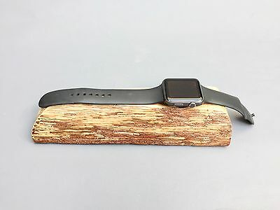 100% Handcrafted Apple iWatch -Charging/ Stand live edge solid Oak wood
