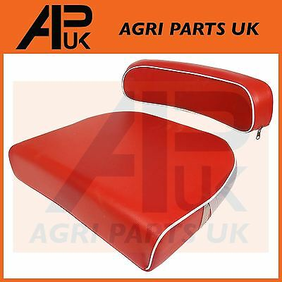 David Brown 770 780 850 880 990 Tractor Seat Cushion & Back rest kit Red/White