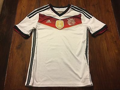 Adidas Germany 2014 FIFA World Champions 4 Star Home Jersey Size Large White