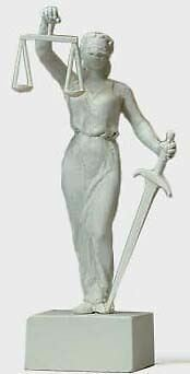 Preiser Ho Scale 1/87 Lady Justice Statue | Bn | 29076