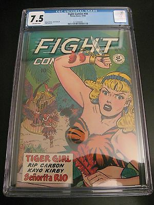 Wow! FIGHT COMICS #58 1948 Fiction House *CGC 7.5* OW Pgs! Very Nice!!