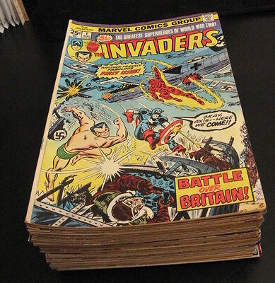Wow!! INVADERS #1-41 COMPLETE SERIES! (#1-5 = VG/FN, 6-20 = VF, #21-41 VF+/NM-)