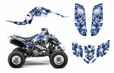 Raptor 660 graphic kit Yamaha 660R decal #5555 Blue Boneyard Free Customization