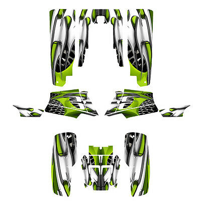 Yamaha Banshee 350 graphics custom full coverage sticker kit #4444 Lime Green