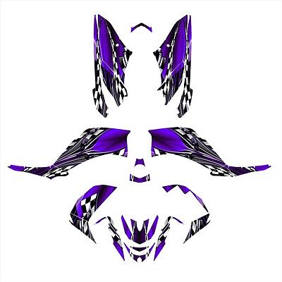 Yamaha Raptor 125 graphics 125R custom sticker kit NO2500 Purple