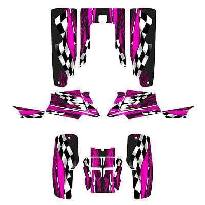 Yamaha Banshee graphics full coverage sticker kit #3500 Hot Pink