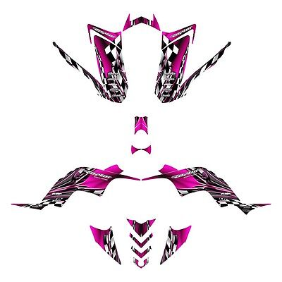 Yamaha Raptor 90 graphics YFM 90R custom ATV deco kit #2500 Hot Pink