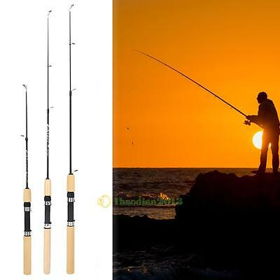 60/80/100cm Portable Travel Shrimp Ice Fishing Rod Fishing Tackle Pole Mini Rods