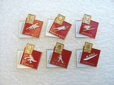 Lot 6 Pin's  Jeux Olympiques Albertville Pins Pin Sport Jo Og Olympic Games S16