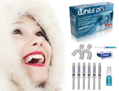 WHITE PRO - KIT COMPLET Blanchiment dentaire professionnel + 5 Recharges
