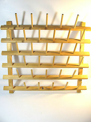June Tailor 33 Peg Spool Thread Rack Wooden Wall Mount Mounted Storage G1