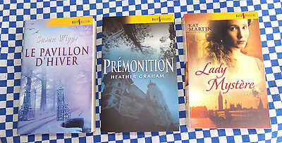 LOT de 3 HARLEQUIN  Best Sellers - Susan WIGGS / Kat MARTIN / Heather GRAHAM