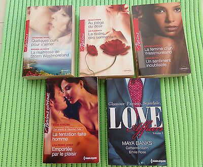 LOT_1 ¤¤¤ 5 HARLEQUIN :  Passions + Passions extrêmes + Love affairs