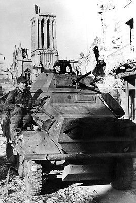 WWII German SdKfz 231 SS 12 Panzer Division HJ  WW2 photo 1944 photograph 4x6