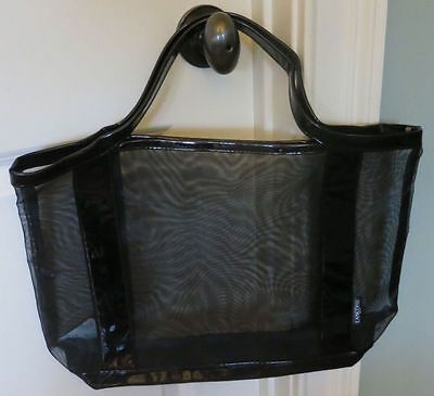 LANCOME Large Tote BAG - Great for Shopping, Beach or Travel, Black Mesh & Vinyl