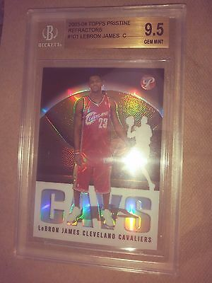 LeBron James 2003 TOPPS PRISTINE REFRACTOR GRADED 9.5 BECKETT GEM !!