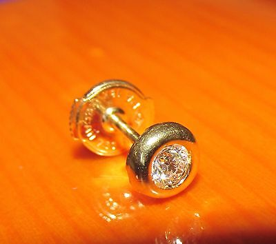 BEAUTIFUL SECONDHAND 18ct YELLOW GOLD  DIAMOND   SINGLE STUD EARRINGS